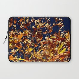 Artistic Fall Leaves Against Deep Blue Sky Laptop Sleeve
