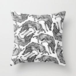 Wild Hair Throw Pillow