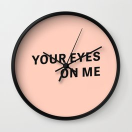 Look - Typography Wall Clock