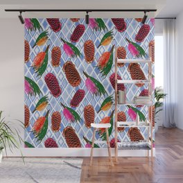 Australian Native Flowers - Grevillea and Beehive Ginger Wall Mural