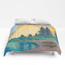 El Capitan Hiroshi Yoshida Modern Japanese Woodblock Print Comforters