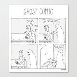 Ghost Comic Canvas Print