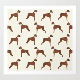 Boxer dog pattern dog lover pet portraits boxers dog breed by pet friendly Art Print