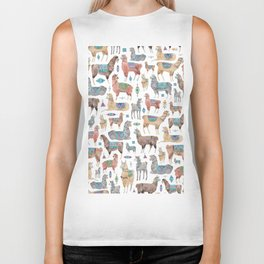 Llamas and Alpacas Biker Tank