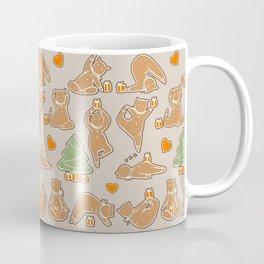 Christmas cookie yoga Coffee Mug