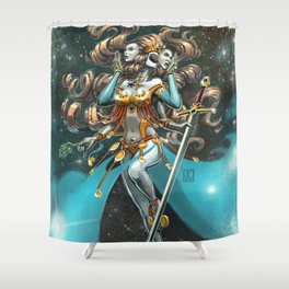 Janus, Goddess of War and Peace Shower Curtain