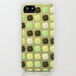 Modern Lotus - Golden Mint iPhone Case