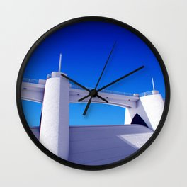Sepulveda Dam on blue Wall Clock