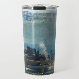 Blue Morning, 1909 by George Bellows Travel Mug