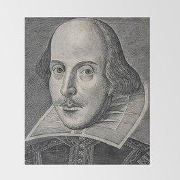 William Shakespeare Portrait Throw Blanket