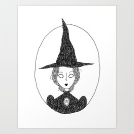 Victorian Witch Art Print
