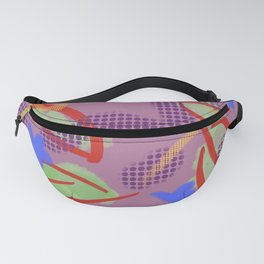 Leafy Print Fanny Pack