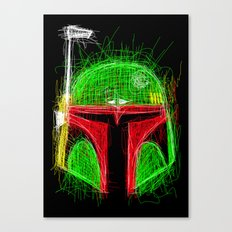 Sketchy Boba Canvas Print