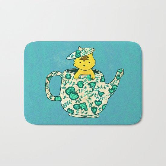 Dinnerware sets - Kitten in a teapot Bath Mat