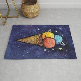 Space Ice Cream Cone Rug