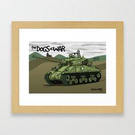 Dogs of War: Sherman Tank Framed Art Print
