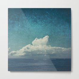 cloud over island Metal Print