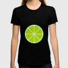 Green lime slice- citrus fruit cut section T-shirt