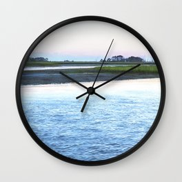 Early Evening at Chincoteague Bay Wall Clock