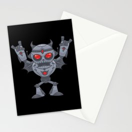 Metalhead - Heavy Metal Robot Devil Stationery Cards