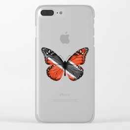 Butterfly Flag Of Trinidad And Tobago Clear iPhone Case