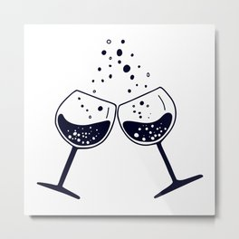 Wine festival. Glasses of wine Metal Print