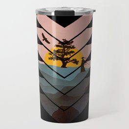 Geometric Nature Love Of A Peacful Warrior Travel Mug