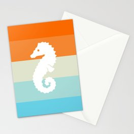Out At Sea Series - Seahorse Sunset Stationery Cards