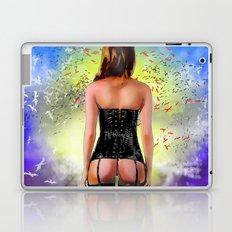 Woman In Corset  Laptop & iPad Skin