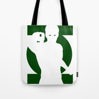 green lantern Tote Bags featuring Green Lantern by Maxvtis
