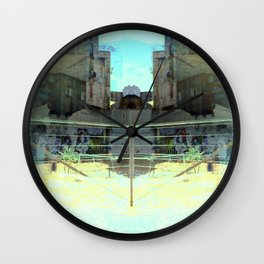 Ocular, cyclical, curved upscale pyrotechnic yell. Wall Clock