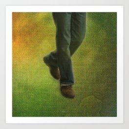 One Step, Two Steps Art Print