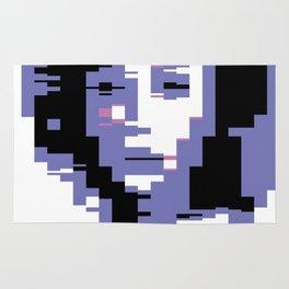 8 Bit Portrait of a Girl Rug