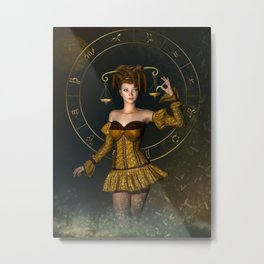 Libra zodiac sign Metal Print