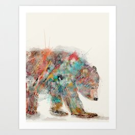 into the wild (the grizzly bear Art Print