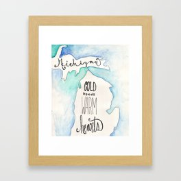 A Michigan winter Framed Art Print