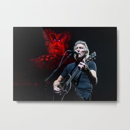 Roger Waters with Mother Metal Print