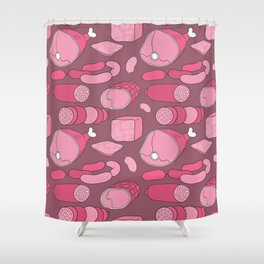 All meat a real treat... Shower Curtain