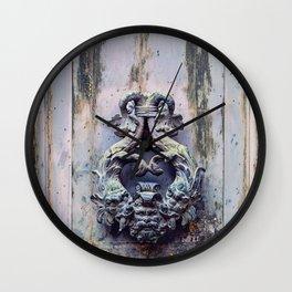 Venetian Door Knocker Wall Clock