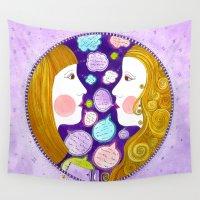 gemini Wall Tapestries featuring Gemini by Sandra Nascimento