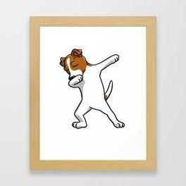 Funny Jack Russell Terrier Dabbing Framed Art Print