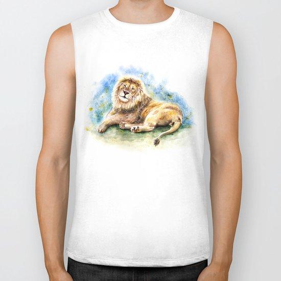 Lion Biker Tank
