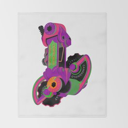 The World's Most Famous 70's Derailleur, One Cool Cat Throw Blanket