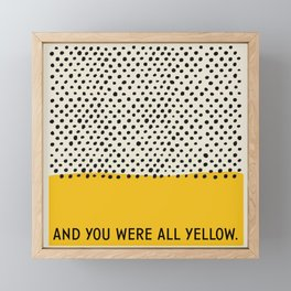 All Yellow Framed Mini Art Print