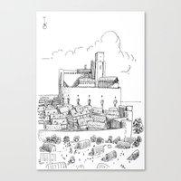 castle Canvas Prints featuring Castle by Mr.Willow