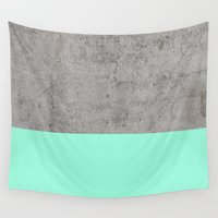 concrete Wall Tapestries featuring Sea on Concrete by cafelab