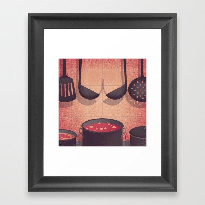 Y Kitchen Framed Art Print