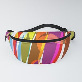 colorful jungle Fanny Pack