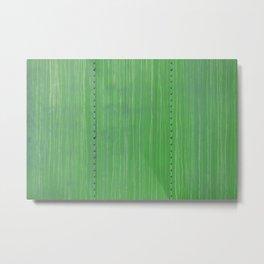 Mean Green Boxcar Detail Metal Rivets  Metal Print