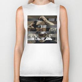 """Gustave Courbet """"The Desperate Man"""" Self Portrait & James Stewart in Vertigo Biker Tank"""